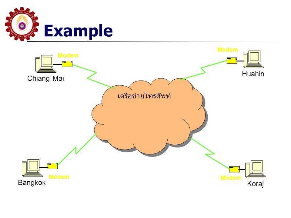 Example Huahin Chiang Mai เครือข่ายโทรศัพท์ Bangkok Koraj Modem Modem