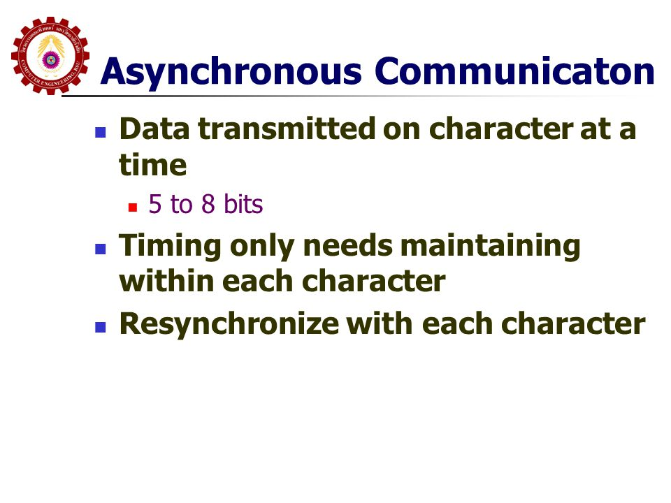 Asynchronous Communicaton