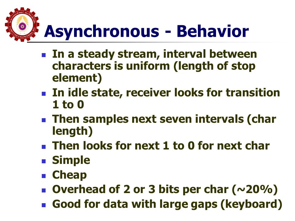 Asynchronous - Behavior