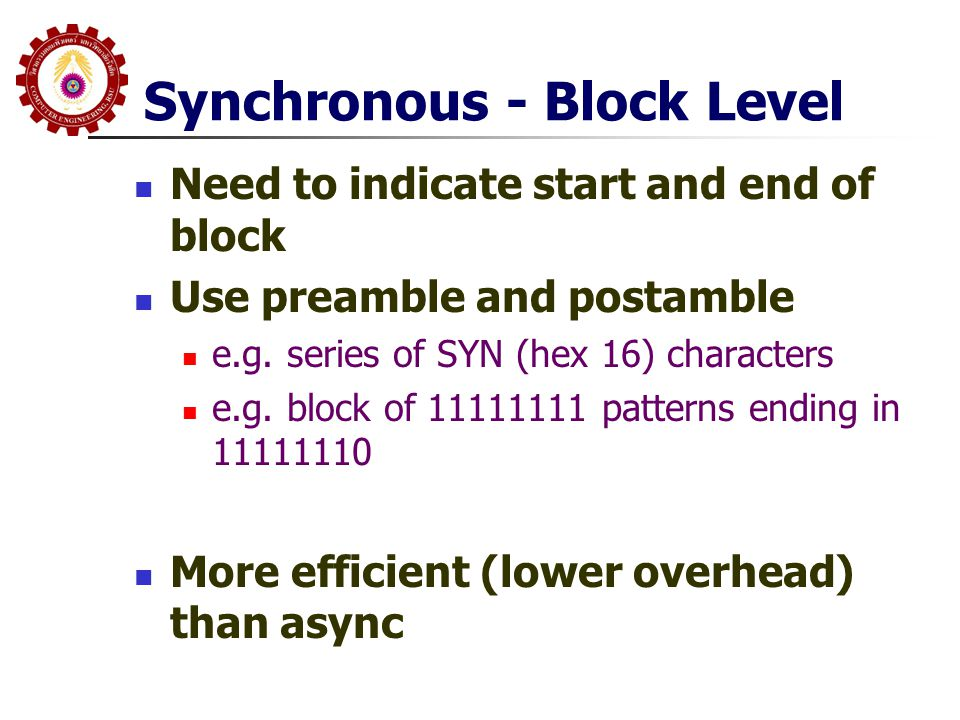 Synchronous - Block Level