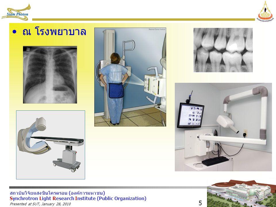 ณ โรงพยาบาล Presented at SUT, January 28, 2010