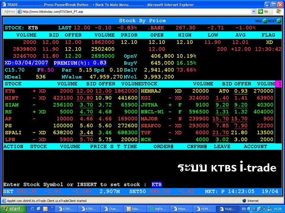 ระบบ KTBS i-trade