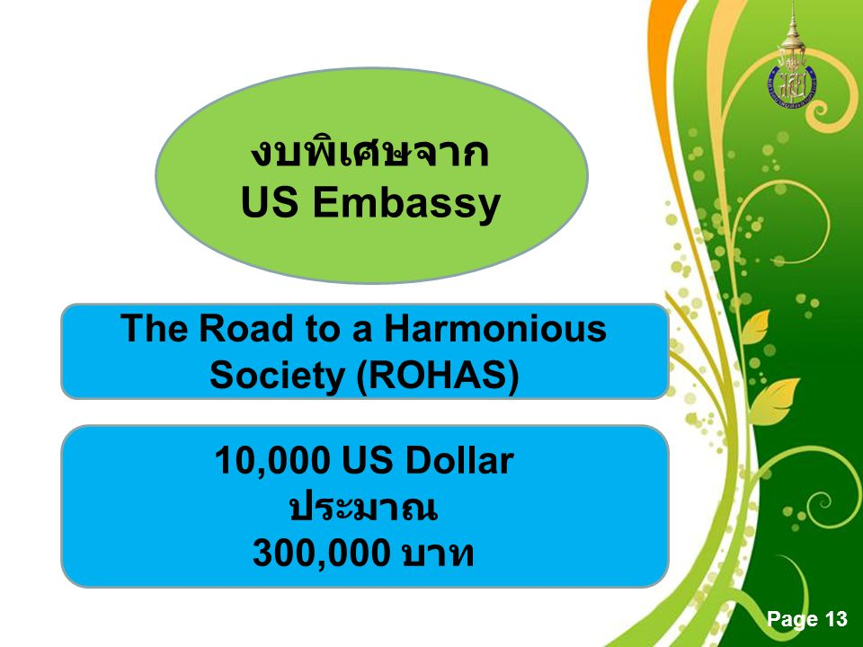 The Road to a Harmonious Society (ROHAS)