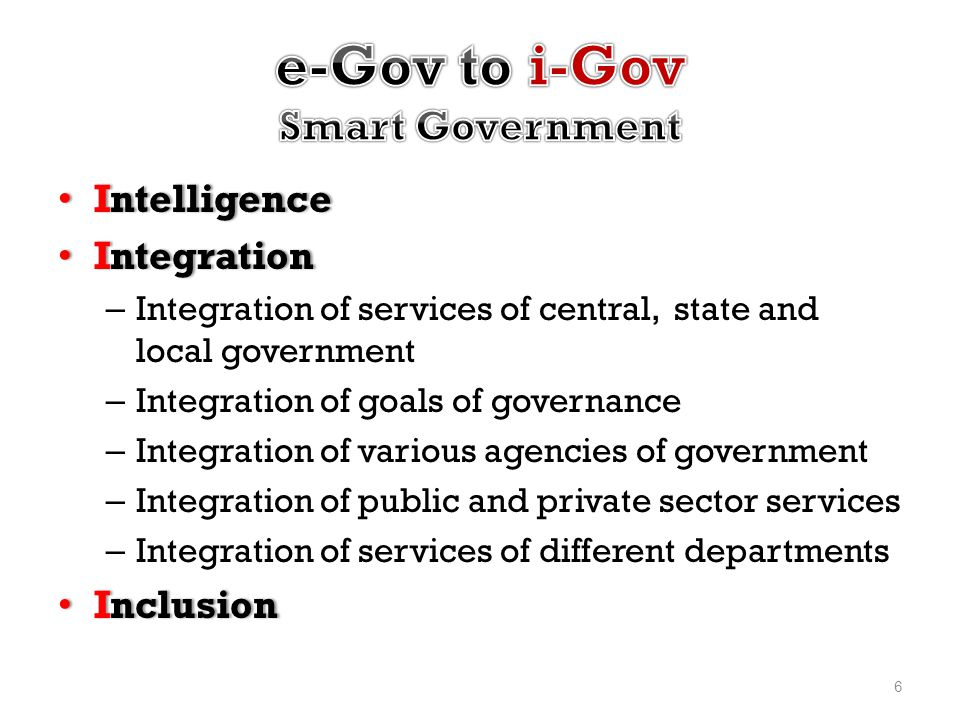 e-Gov to i-Gov Smart Government