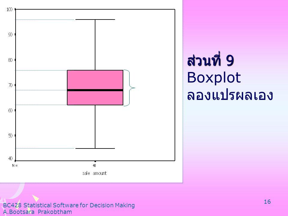 ส่วนที่ 9 Boxplot ลองแปรผลเอง