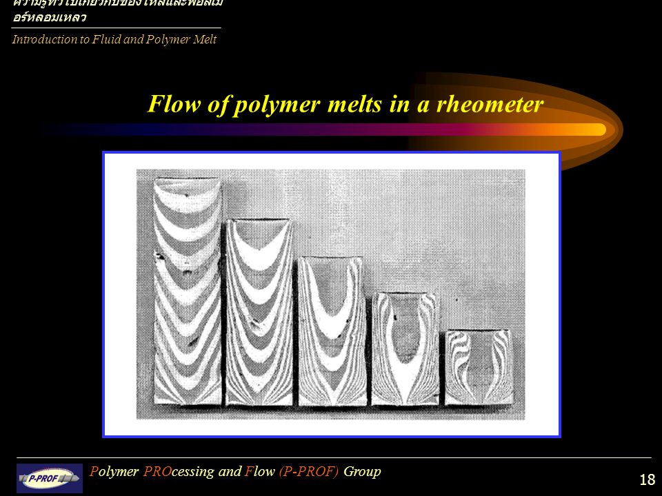 Flow of polymer melts in a rheometer