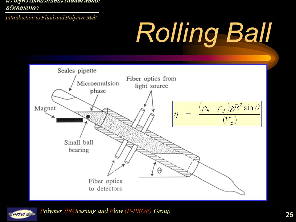 Rolling Ball Polymer PROcessing and Flow (P-PROF) Group