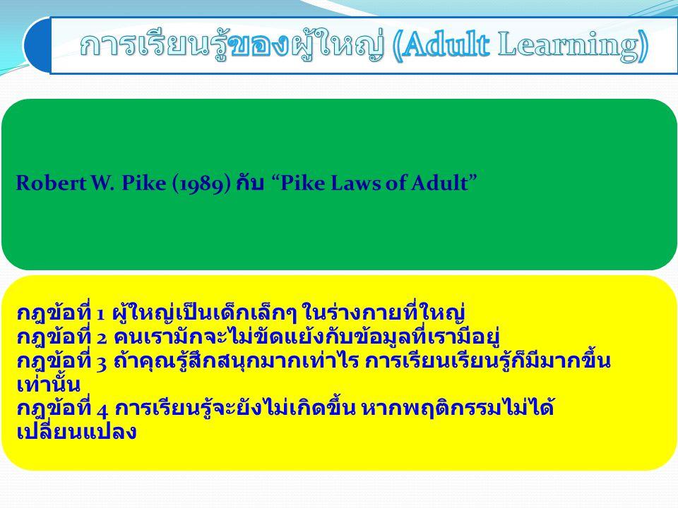 การเรียนรู้ของผู้ใหญ่ (Adult Learning)