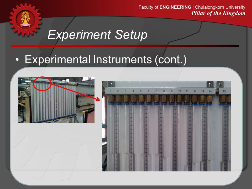 Experiment Setup Experimental Instruments (cont.)