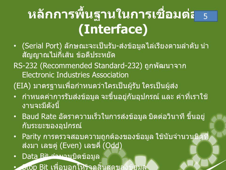 หลักการพื้นฐานในการเชื่อมต่อ (Interface)
