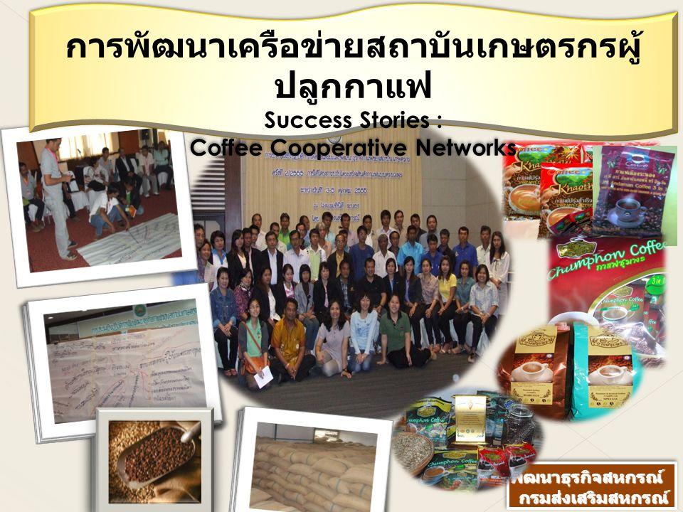 การพัฒนาเครือข่ายสถาบันเกษตรกรผู้ปลูกกาแฟ Coffee Cooperative Networks