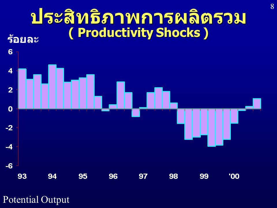 ประสิทธิภาพการผลิตรวม ( Productivity Shocks )