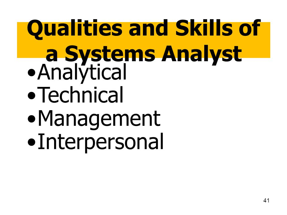 Qualities and Skills of a Systems Analyst