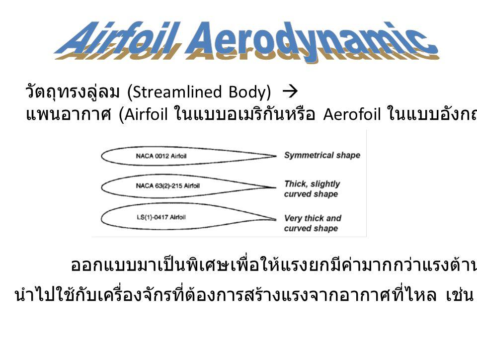 Airfoil Aerodynamic วัตถุทรงลู่ลม (Streamlined Body) 