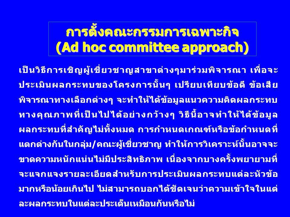 การตั้งคณะกรรมการเฉพาะกิจ (Ad hoc committee approach)