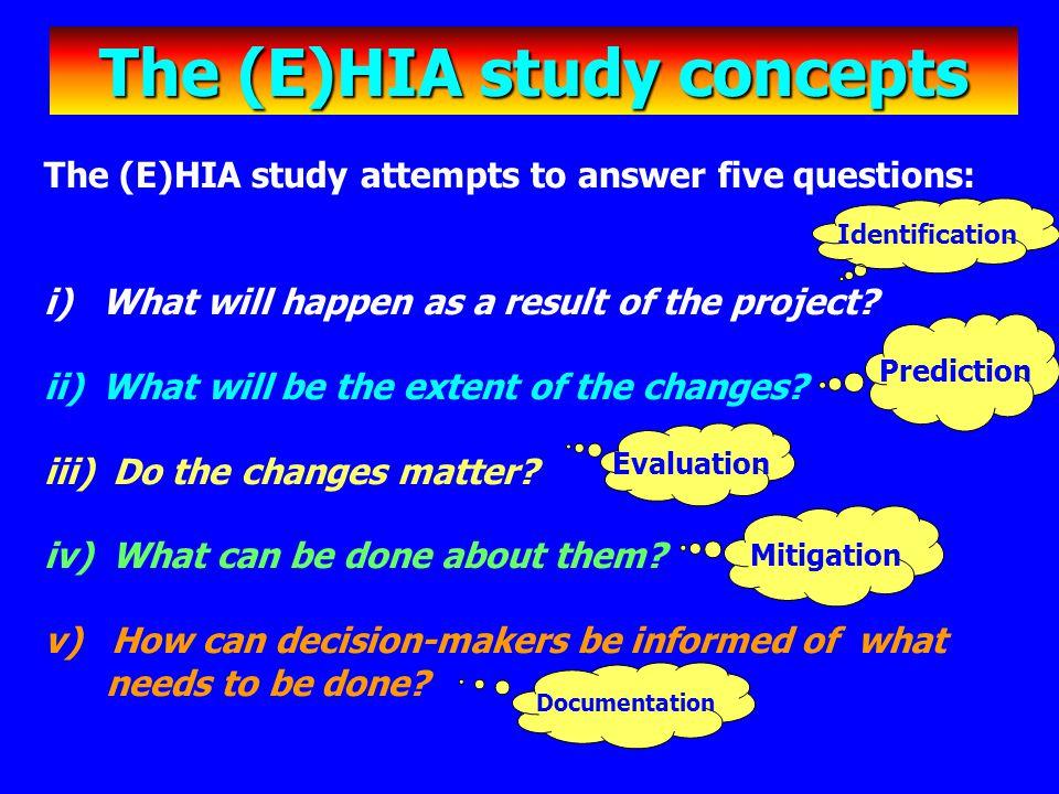 The (E)HIA study concepts