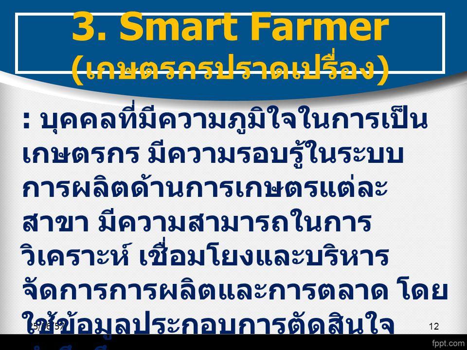 3. Smart Farmer (เกษตรกรปราดเปรื่อง)