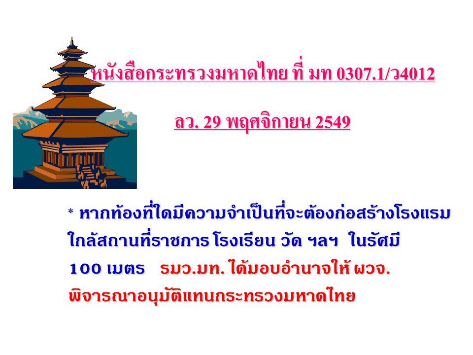หนังสือกระทรวงมหาดไทย ที่ มท 0307.1/ว4012