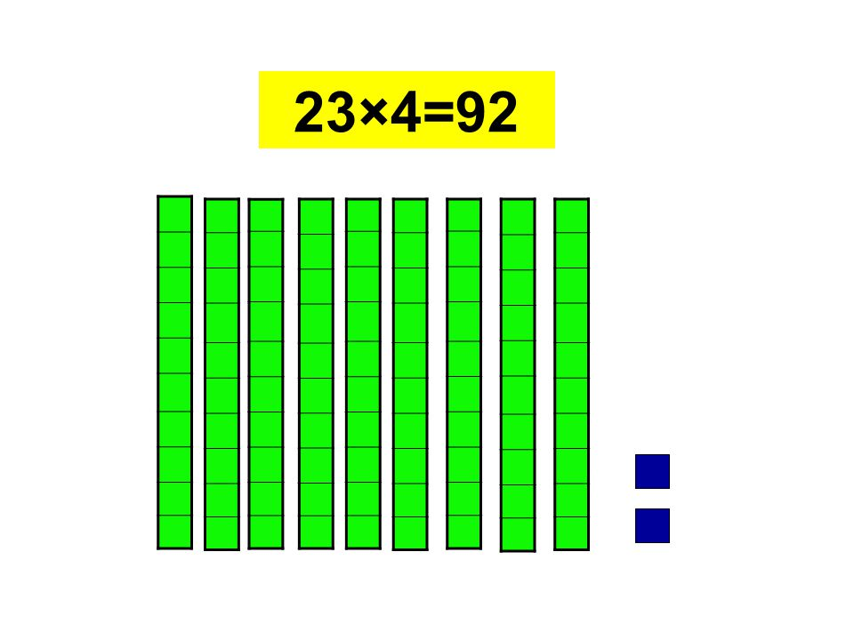 23×4=92