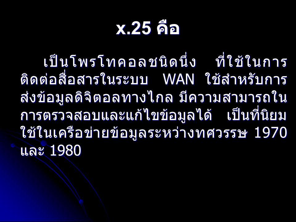 x.25 คือ