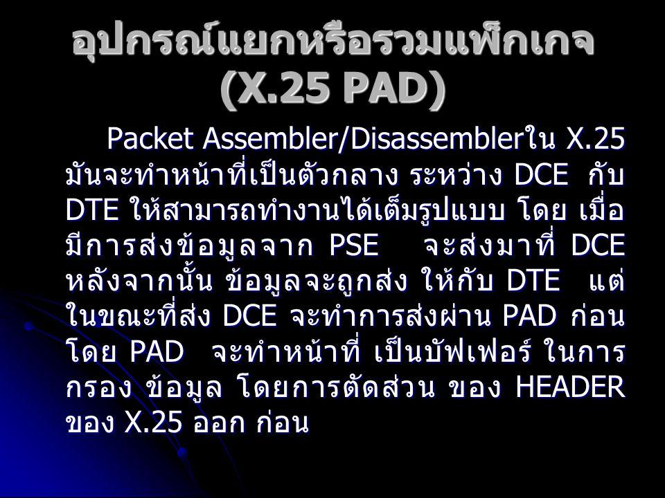 อุปกรณ์แยกหรือรวมแพ็กเกจ (X.25 PAD)