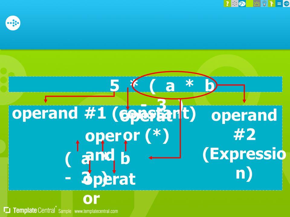 operand #2 (Expression)