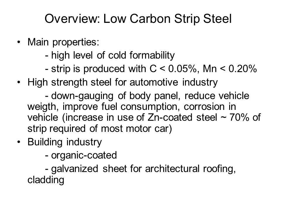 Overview: Low Carbon Strip Steel