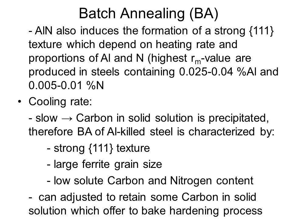 Batch Annealing (BA)