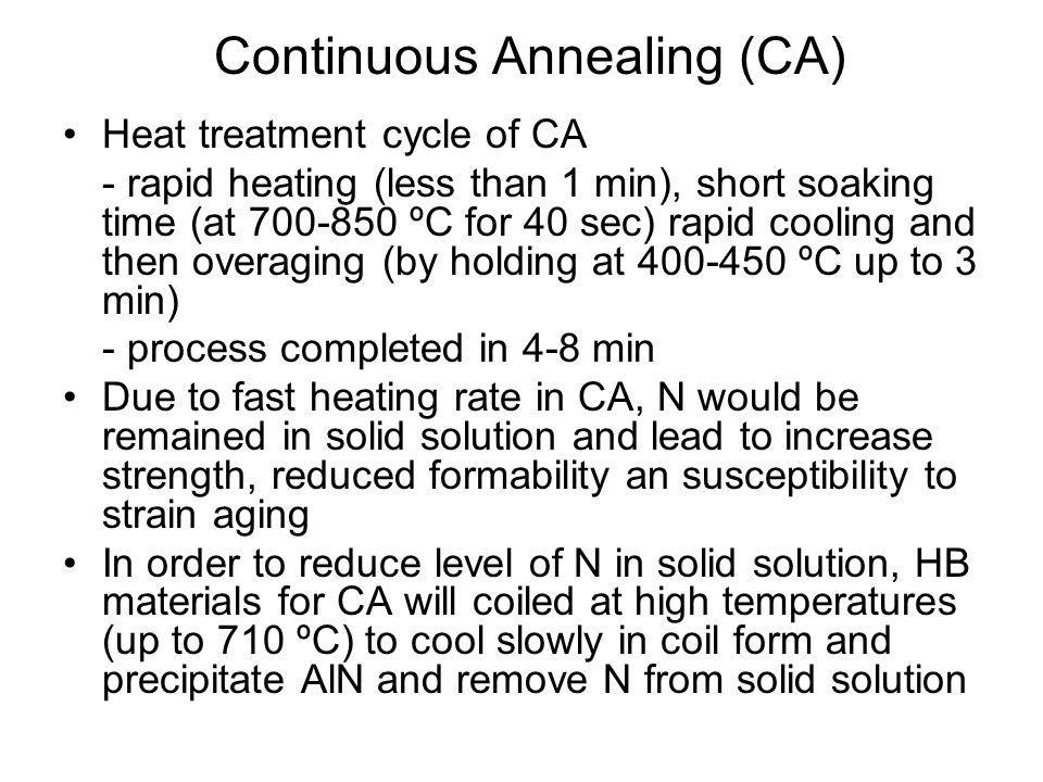 Continuous Annealing (CA)