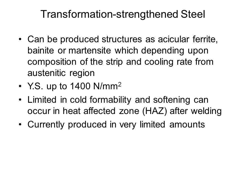 Transformation-strengthened Steel