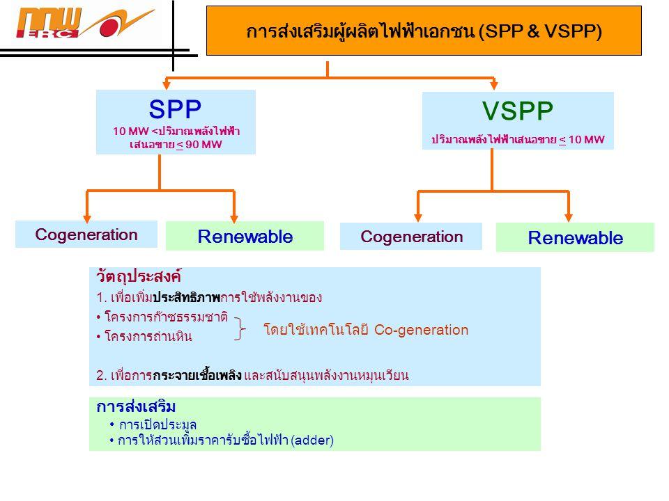 การส่งเสริมผู้ผลิตไฟฟ้าเอกชน (SPP & VSPP)