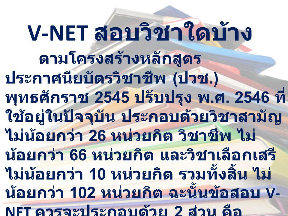 V-NET สอบวิชาใดบ้าง