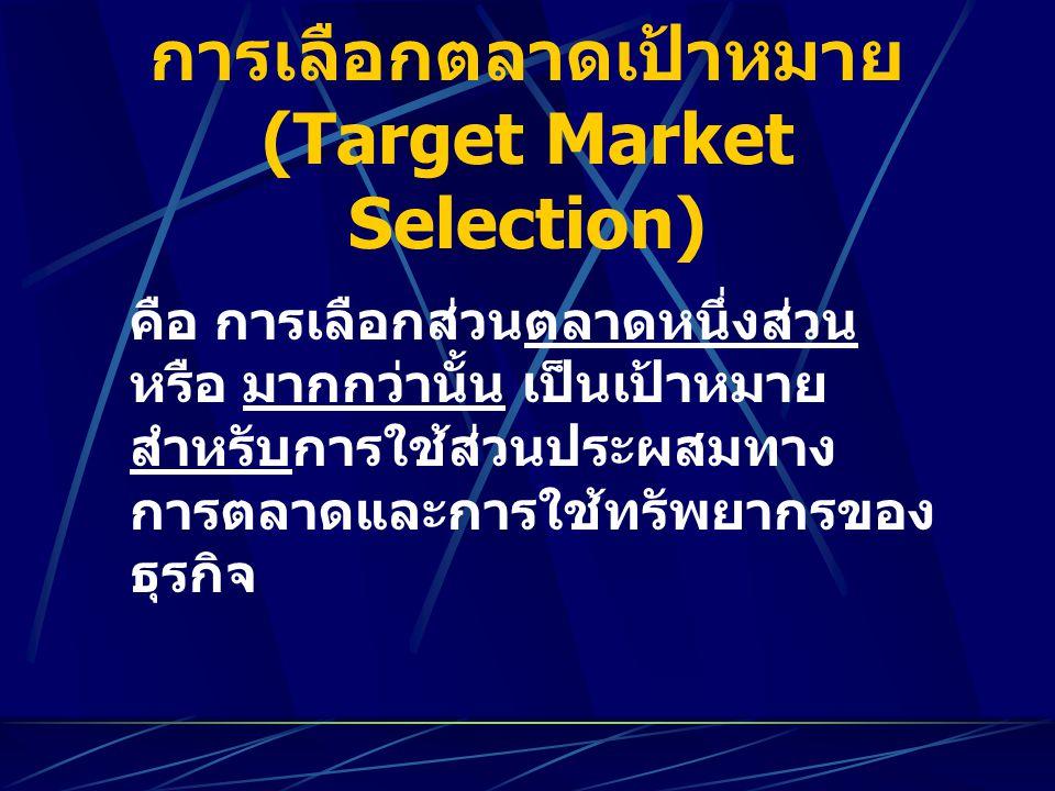 การเลือกตลาดเป้าหมาย (Target Market Selection)