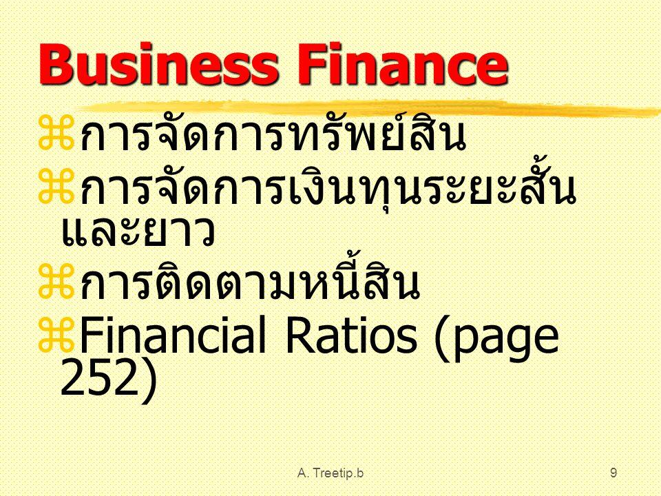 Business Finance การจัดการทรัพย์สิน การจัดการเงินทุนระยะสั้นและยาว