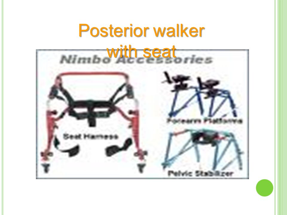 Posterior walker with seat