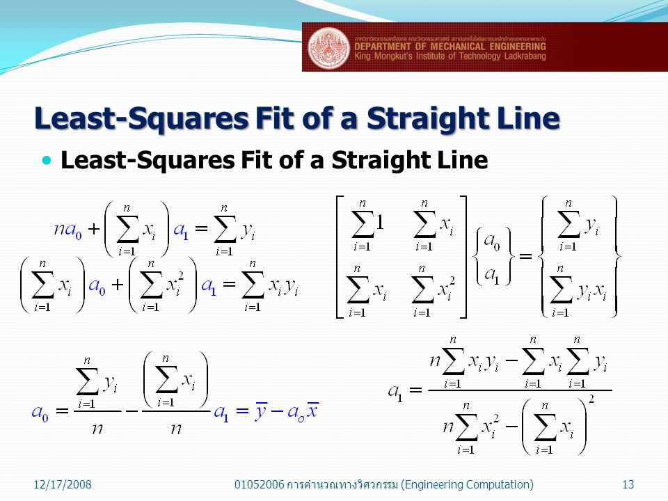 Least-Squares Fit of a Straight Line