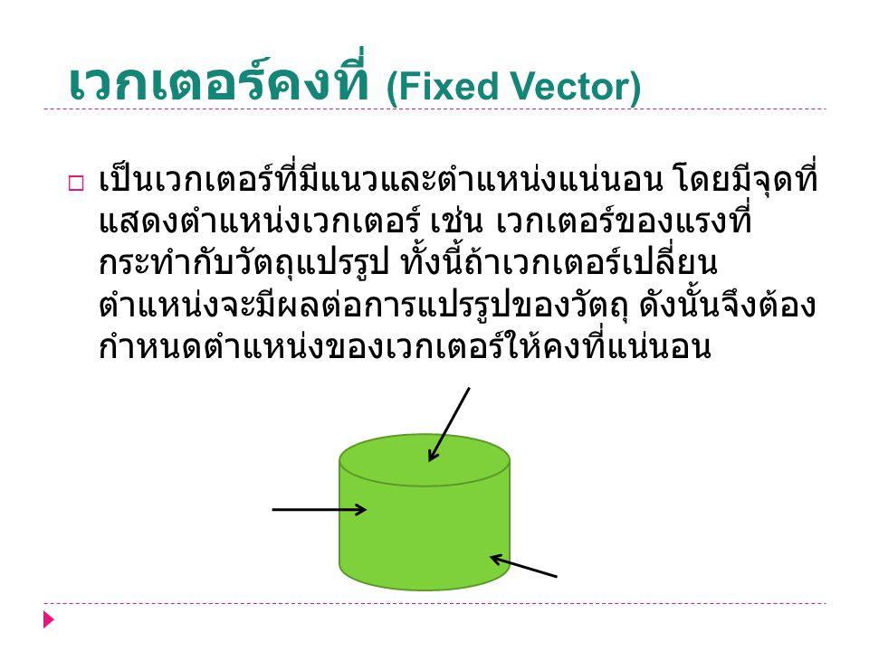 เวกเตอร์คงที่ (Fixed Vector)
