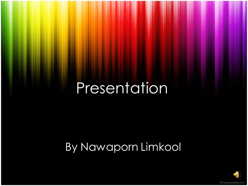 Presentation By Nawaporn Limkool