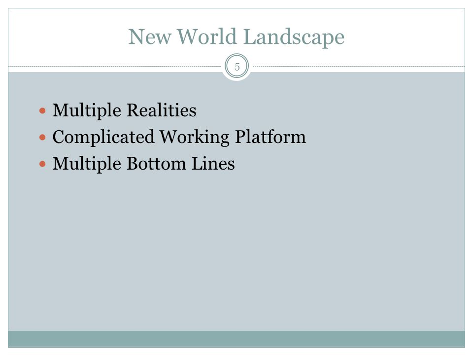 New World Landscape Multiple Realities Complicated Working Platform