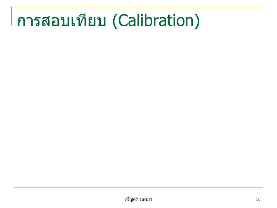 การสอบเทียบ (Calibration)