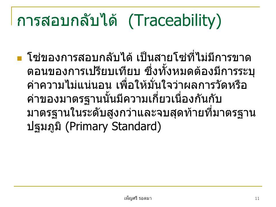 การสอบกลับได้ (Traceability)