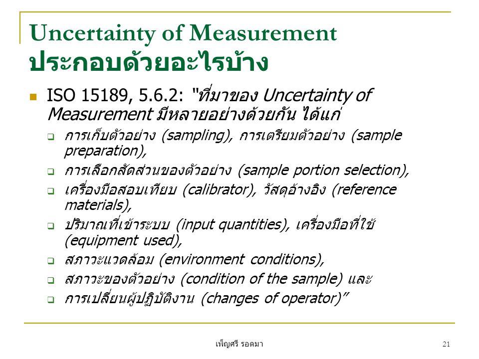Uncertainty of Measurement ประกอบด้วยอะไรบ้าง