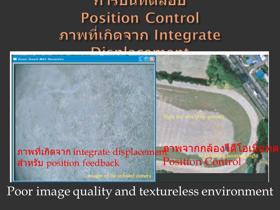 การบินทดสอบ Position Control ภาพที่เกิดจาก Integrate Displacement
