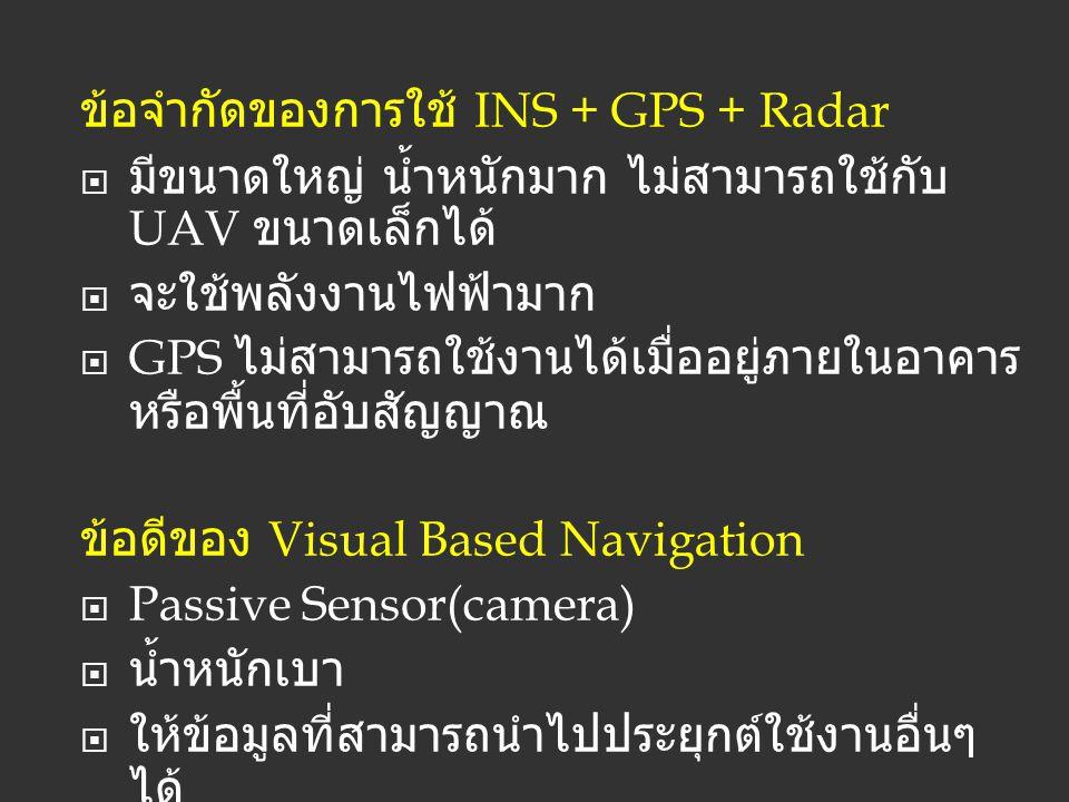 ข้อจำกัดของการใช้ INS + GPS + Radar
