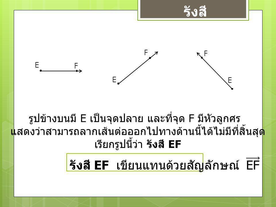 รังสี รังสี EF เขียนแทนด้วยสัญลักษณ์ EF
