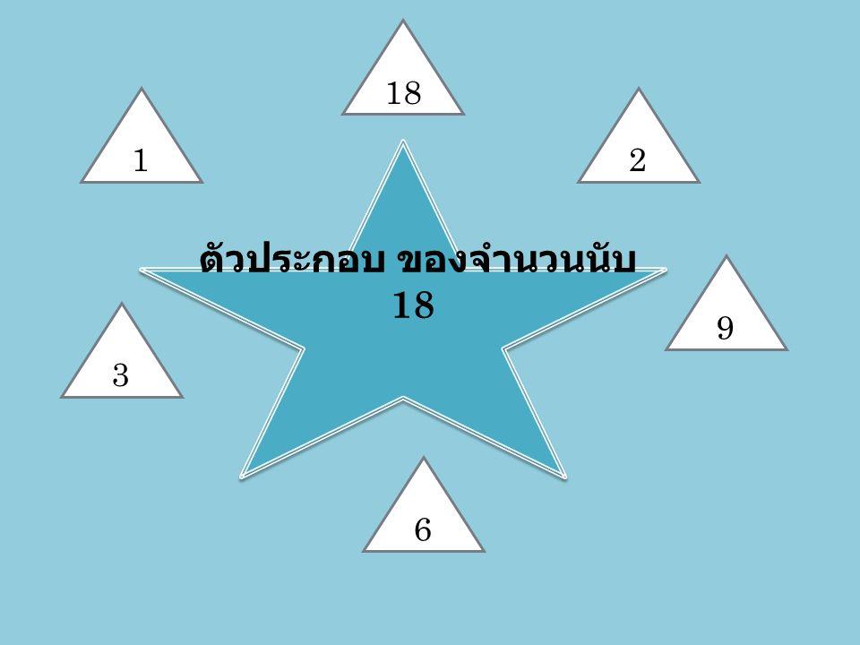 ตัวประกอบ ของจำนวนนับ18