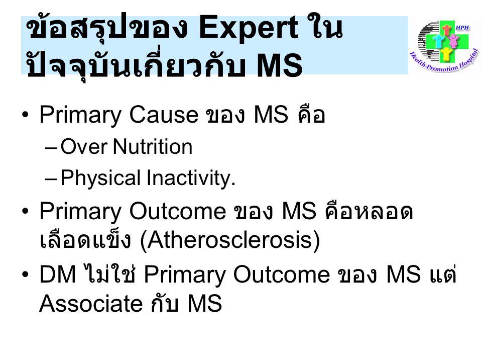 ข้อสรุปของ Expert ในปัจจุบันเกี่ยวกับ MS