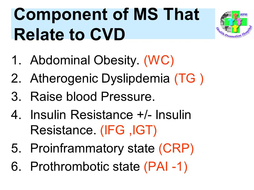 Component of MS That Relate to CVD