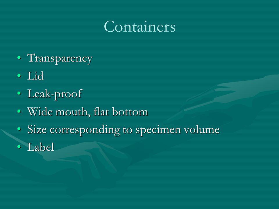 Containers Transparency Lid Leak-proof Wide mouth, flat bottom