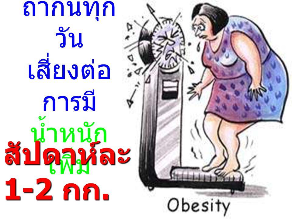 ถ้ากินทุกวัน เสี่ยงต่อการมี น้ำหนักเพิ่ม
